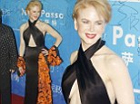 Double hit! Nicole Kidman flashes some front AND side boob as she sports revealing dress for Chinese Oscars