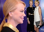 Have you really stopped with the Botox Nicole? Kidman, 46, reveals a completely line-free face as she cuddles up to Charlize Theron at ladies' luncheon