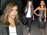 Style chameleon Jessica Alba goes from red carpet glamour to casual chic in the space of a few hours