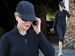 Nicole Kidman works up quite a sweat as she maintains her slender figure with a trip to the gym