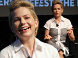 Candid conversation: Michelle Williams sat down on Saturday with writer David Denby as part of the New Yorker Festival in New York City