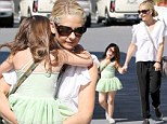 Mommy's tinkerbell! Sarah Michelle Gellar's daughter Charlotte is dressed like a fairy princess as she gets picked up from ballet class