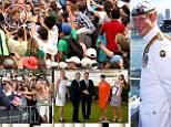 Tens of thousands of screaming fans turned out to catch a glimpse of Prince Harry (main image, circled in red) in Sydney yesterday.