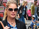 Even Angels need a day off: Victoria's Secret beauty Doutzen Kroes enjoys family time with adorable son and husband