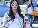 Pregnant Jennifer Love Hewitt goes for comfort in baggy jeans and a loose-fitting vest top as she counts down to her due date