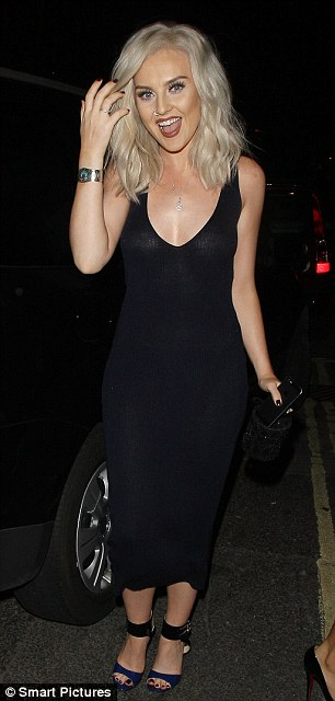 Slinky: Perrie ditched her usual style for something far more slinky which looked stunning on her