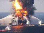 Explosion: BP has faced crippling compensation bills since the disastser in 2010.