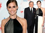 Girls' Allison Williams wears patchy halter gown to pose with Tony Bennett at his ETA gala