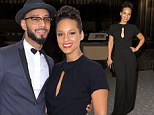Alicia Keys looks sensational in a Seventies style black jumpsuit to join Swizz Beatz at children's charity benefit