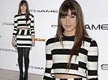 Trendy teenager: Hailee Steinfeld donned a chic, contemporary ensemble for an Ender's Game photo call at The Odeon West End in London on Monday