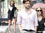 Only the best for Mr Butler! Olivia Palermo dresses up to walk prized pooch... but switches to flats to meet Johannes Huebl