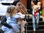 Bethenny Frankel takes little princess Brynn to school... as it's revealed she 'blames Ellen DeGeneres for chatshow's lack of high profile guests'