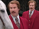 Commercial comedy: Will Ferrell got into his Ron Burgundy character as he filmed 70 commercials for the new Dodge Durango