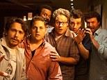 Bunch of bozos: (from left) James Franco, Jonah Hill, Craig Robinson, Seth Rogen, Jay Baruchel and Danny McBride