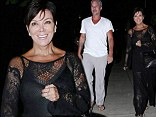 Britney Spears' former fiance Jason Trawick and reality queen Kris Jenner caught on a casual Sunday night date
