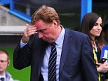 Game over: Harry Redknapp's QPR side were relegated from the Premier League after a 0-0 draw at Reading
