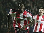 Lethal touch: Jones celebrates netting against Sheffield Wednesday for Southampton in 2007