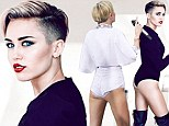 Fashion Magazine photo shoot shows Miley Cyrus looking curvier just one month ago as she displays her new skinnier frame in tiny white shorts during TV appearance