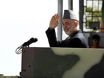 Хамид Карзай незадолго до покушения. Фото AFP