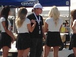 Hello ladies! Bruce Jenner was flanked by women at a Virginia racetrack over the weekend