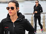 Jennifer Connelly looks skinnier than ever on a run in New York, during a break from playing a homeless woman in Shelter
