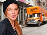 Movers spotted carrying furniture into Lindsay Lohan's new multimillion dollar Manhattan apartment