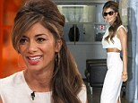Nicole Scherzinger's weight loss is more than noticeable as she displays her TINY waist and protruding ribs in a crop top and pencil skirt