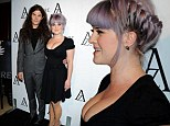 Kelly Osbourne shows off her hourglass figure in a VERY low-cut dress for night out with fiancé Matthew Mosshart