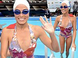 Charity swim: Nikki Reed joined extreme athlete Diana Nyad on Wednesday for a fundraising swim in New York City to help Hurricane Sandy victims