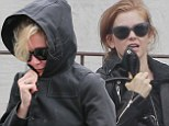 Kirsten Dunst and Isla Fisher take their friendship to the gym by getting in a grueling workout at the Tracy Anderson studio