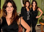 Penelope Cruz and sister Monica step out in stunning black outfits as they attend an exclusive dinner together in London