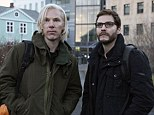 The Fifth Estate with Benedict Cumberbatch as Julian Assange, left, with Daniel Bruhl as Daniel Domscheit-Berg