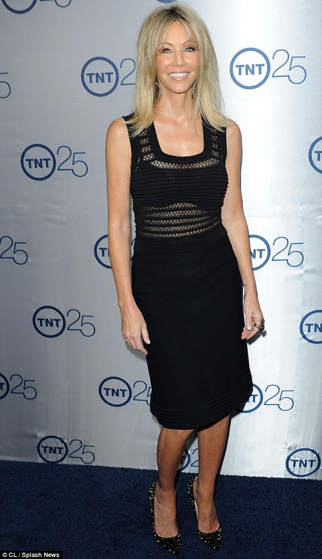 She's still got it: Heather, pictured at a TNT party on July 24, stars on the network's series Franklin & Bash