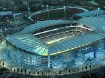 Dramatic: An artist impression of the Etihad stadium expansion plans