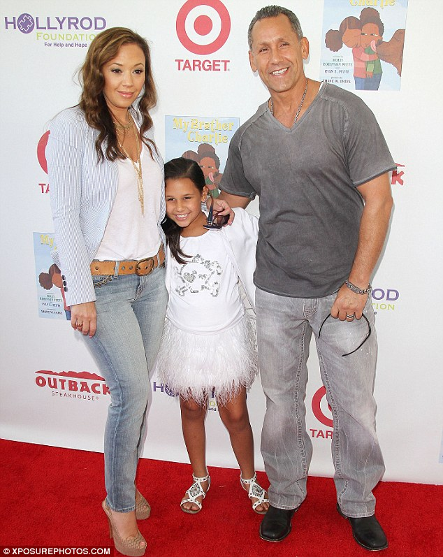 Family: Remini with her husband Angelo Pagán and daughter Sofia Bella at a Hollywood benefit in 2012