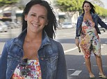 Blooming Love-ly: Jennifer Love Hewitt dresses blossoming baby bump in a pretty multicolour sundress on shopping trip