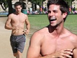 What a view! Brant Daugherty showed off his toned figure as he worked out at a park in North Hollywood, California on Thursday