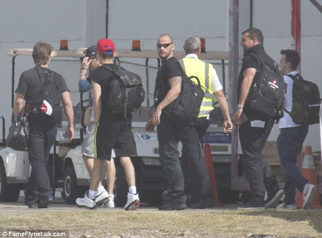Niall Horan and Liam Payne at Sydney airport getting ready to board a flight to New Zealand
