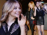 Kicking ass on the fashion front! Chloe Moretz wears leather two different ways as she takes care of business in the city that never sleeps
