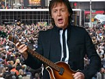 Sir Paul McCartney transports New York's Times Square back to the heady days of '60s Beatlemania with surprise concert