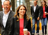 She's the funny one! Tina Fey gets the better of Jerry Seinfeld as she makes the legendary comic burst out laughing on a run for pastries