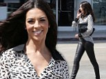 Showing Simon what he's missing? Terri Seymour dobs tight leather pants days after sitting on the X Factor boss's knee