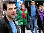 From Tennessee Williams to... David Lynch? Zachary Quinto takes a break from Broadway for a surreal stroll with redheaded twins