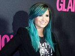 That hair will give people a Heart Attack!Demi Lovato embraced her newly-dyed blue locks as she stood out at a party to celebrate Glamour magazine's 15th anniversary in Mexico City on Thursday night