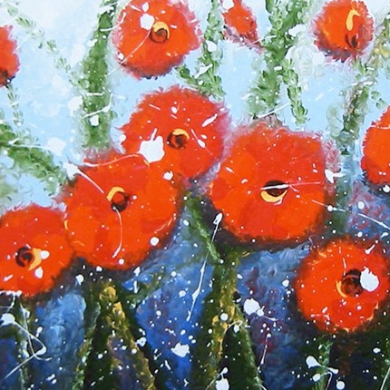 Giclee Prints Red Poppy Flower Field by HJM Art Gallery