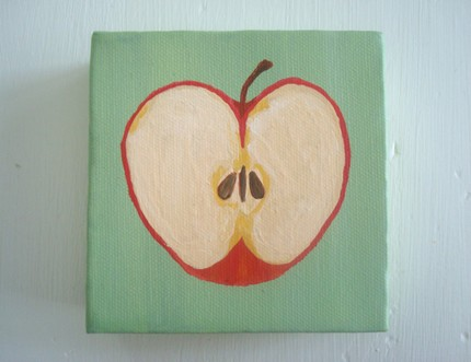 Red Apple (4x4 Canvas)