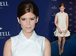 Anything but invisible! Kate Mara wows in full-skirted white minidress... as it's revealed she's in line for Fantastic Four role