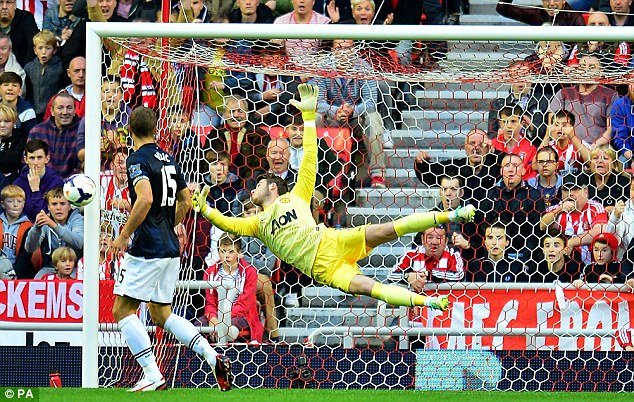 No 1: De Gea has established himself at Manchester United's first choice goalkeeper