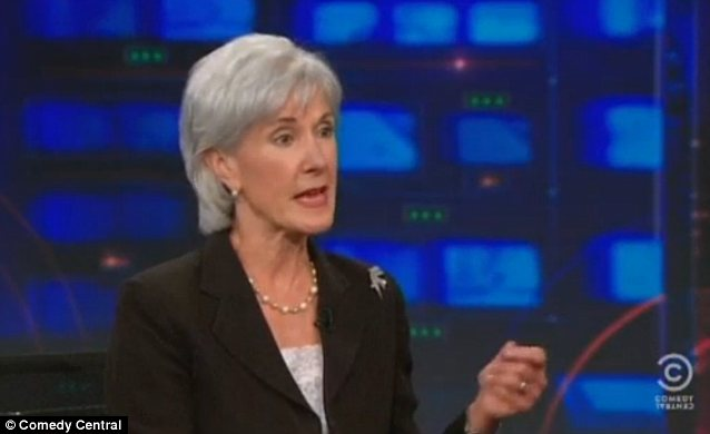'I don't know': HHS Secretary Kathleen Sebelius said on The Daily Show that she hadn't seen Obamacare enrollment numbers