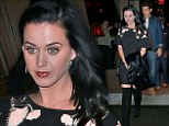 Katy Perry vamps it up in thigh high boots for romantic dinner date with John Mayer